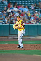 Taylor Ward (3) of the Salt Lake Bees during the game against the New Orleans Baby Cakes at Smith's Ballpark on June 11, 2018 in Salt Lake City, Utah. New Orleans defeated Salt Lake 6-5.  (Stephen Smith/Four Seam Images)