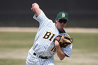 March 17, 2010:  Pitcher Josh Smith (19) of North Dakota State University Bison vs. Long Island University at Lake Myrtle Park in Auburndale, FL.  Photo By Mike Janes/Four Seam Images