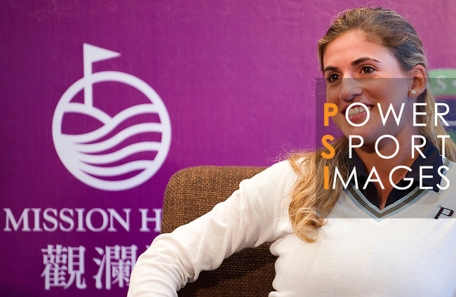 Belen Mozo during the Mission Hills Start Trophy at the Mission Hills Golf Resort on October 31, 2010 in Haikou, China. The Mission Hills Star Trophy is Asia's leading leisure liflestyle event and features Hollywood celebrities and international golf stars. Photo by Victor Fraile