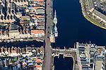 Nederland, Noord-Holland, Alkmaar, 28-10-2016; centrum van Alkmaar, met Bierkade, Verdronkenoord, Accijnstoren.<br /> Alkmaar historical city centre.<br /> luchtfoto (toeslag op standard tarieven);<br /> aerial photo (additional fee required);<br /> copyright foto/photo Siebe Swart