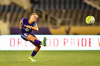 Orlando, FL - Saturday September 10, 2016: Camille Levin during a regular season National Women's Soccer League (NWSL) match between the Orlando Pride and Sky Blue FC at Camping World Stadium.
