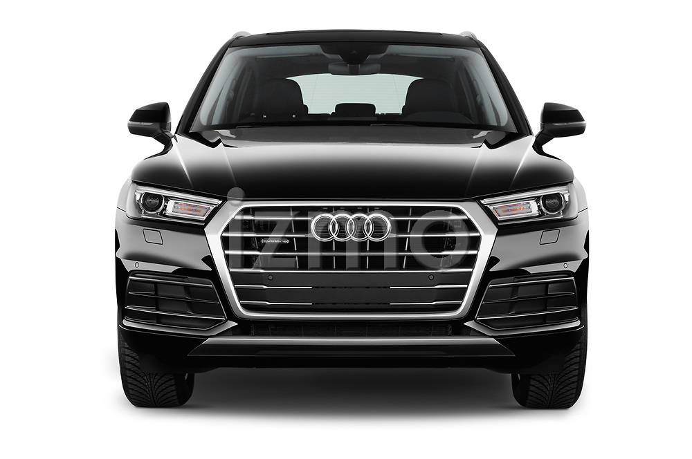 Car photography straight front view of a 2017 Audi Q5 Sport 5 Door SUV Front View
