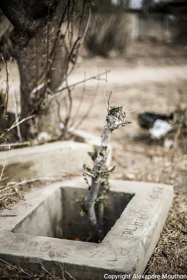 Des vestiges de bornes fontaines de redistribution et de canalisations sont envahis par la végétation, mais des noms et des dates, gravés dans le béton, attestent que des installations ont survécu au moins jusque dans les années 1990. Depuis, un forage diesel et un château d'eau moderne ont été construits, faisant fi des anciennes installations de cette aventure solaire.
