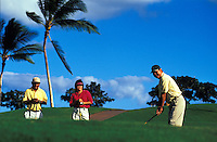 People teeing off at the Ko Olina Golf Club, west Oahu