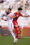 Ehsan Haji Safi of Iran (L) competes for the ball with Nguyen Cong Phuong of Vietnam (R) during the AFC Asian Cup UAE 2019 Group D match between Vietnam (VIE) and I.R. Iran (IRN) at Al Nahyan Stadium on 12 January 2019 in Abu Dhabi, United Arab Emirates. Photo by Marcio Rodrigo Machado / Power Sport Images