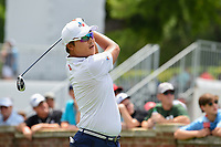 Kyoung-Hoon Lee (KOR) watches his tee shot on 10 during round 1 of the 2019 Charles Schwab Challenge, Colonial Country Club, Ft. Worth, Texas,  USA. 5/23/2019.<br /> Picture: Golffile | Ken Murray<br /> <br /> All photo usage must carry mandatory copyright credit (© Golffile | Ken Murray)