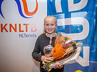 Hilversum, Netherlands, December 3, 2017, Winter Youth Circuit Masters, 12,14,and 16 years, overall winner girls 12 years Britt du Pree<br /> Photo: Tennisimages/Henk Koster