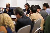 BRASILIA, DF, 14.10.2015 - ESPORTES-CNE-   O ministro do Esporte, George Hilton, preside a segunda reunião do Conselho Nacional do Esporte (CNE), no Ministério do Esporte, nesta quarta-feira, 14.(Foto:Ed Ferreira / Brazil Photo Press)