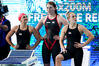 Picture by Alex Whitehead/SWpix.com - 07/04/2018 - Commonwealth Games - Swimming - Optus Aquatics Centre, Gold Coast, Australia - Eleanor Faulkner, Freya Anderson and Siobhan Marie-O'Connor of England.