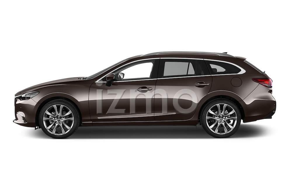 Car Driver side profile view of a 2015 Mazda Mazda 6 Skycruse 5 Door Wagon Side View