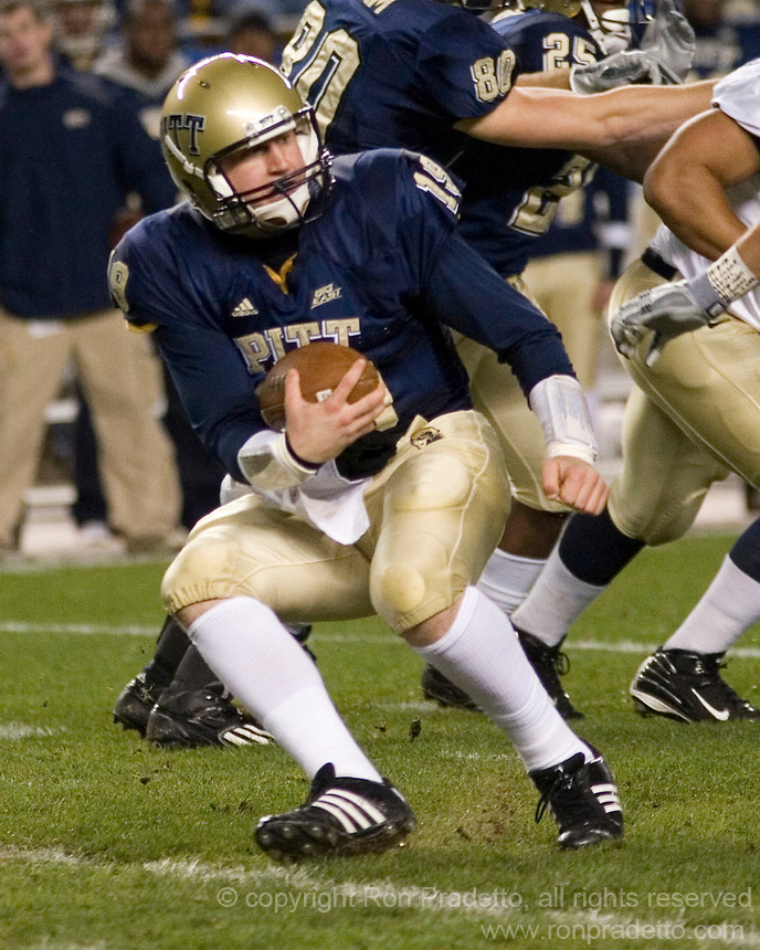 10 October 2007: Pitt quarterback Pat Bostick..The Navy Midshipmen beat the Pitt Panthers 48-45 in double overtime on October 10, 2007 at Heinz Field, Pittsburgh, Pennsylvania.