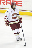 Edwin Shea (BC - 8) - The Boston College Eagles defeated the Merrimack College Warriors 7-0 on Tuesday, February 23, 2010 at Conte Forum in Chestnut Hill, Massachusetts.
