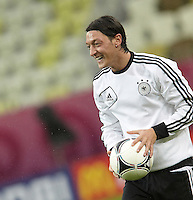 EURO 2012 - POLAND - Gdansk - 21 JUNE 2012 - Germany Offcial MD-1 Training Session at PGE Arena of Gdansk. German player Mesut ÷zil with the ball.