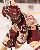 Matthew Gaudreau (BC - 21) - The Boston College Eagles defeated the Providence College Friars 3-1 (EN) on Sunday, January 8, 2017, at Fenway Park in Boston, Massachusetts.The Boston College Eagles defeated the Providence College Friars 3-1 (EN) on Sunday, January 8, 2017, at Fenway Park.