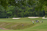 Lloyd Jefferson GO (PHI) looks for his tee shot near the water on 8 during Rd 4 of the Asia-Pacific Amateur Championship, Sentosa Golf Club, Singapore. 10/7/2018.<br /> Picture: Golffile | Ken Murray<br /> <br /> <br /> All photo usage must carry mandatory copyright credit (© Golffile | Ken Murray)