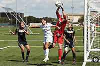 SAN ANTONIO, TX - SEPTEMBER 30, 2012: The University of Idaho Vandals versus The University of Texas at San Antonio Roadrunners Women's Soccer at the UTSA Recreational Sports Complex. (Photo by Jeff Huehn)
