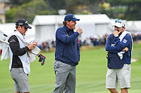 Phil Mickelson (USA) has some fun after chipping in from off the green on 6 during round 2 of the 2019 US Open, Pebble Beach Golf Links, Monterrey, California, USA. 6/14/2019.<br /> Picture: Golffile | Ken Murray<br /> <br /> All photo usage must carry mandatory copyright credit (© Golffile | Ken Murray)