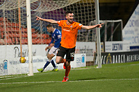 16th November 2019; Tannadice Park, Dundee, Scotland; Scottish Championship Football, Dundee United versus Queen of the South; Sam Stanton of Dundee United celebrates after scoring for 3-0 in the 49th minute - Editorial Use