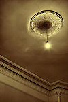 Ceiling and light in old room