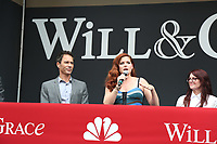 02 August 2017 - Universal City, California.  Debra Messing, Megan Mullally, Eric McCormack. 'Will & Grace' start of production kick off event and ribbon cutting ceremony at Universal Studios Photo Credit: PMA/AdMedia