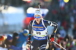 10/12/2016, Pokljuka - IBU Biathlon World Cup.<br /> Lisa Vittozzi competes at the pursuit race in Pokljuka, Slovenia on 10/12/2016. Germany's Laura Dahlmeier remains leader with the yellow bib after his today victory.