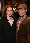 "Jessie Austrian and Noah Brody attends the Broadway Opening Night Performance of ""John Lithgow: Stories by Heart"" at the American Airlines Theatre on January 11, 2018 in New York City."