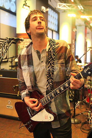 NEW YORK, NY - SEPTEMBER 10: Nick Wheeler of The All American Rejects performs live at the MLB Fan Cave Concert Series  on September 10, 2012 in New York City. © Diego Corredor/MediaPunch Inc.