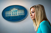 White House Press Secretary Kayleigh McEnany, listens during a news conference in the James S. Brady Press Briefing Room at the White House, on Wednesday, September 16, 2020. <br /> Credit: Al Drago / Pool via CNP