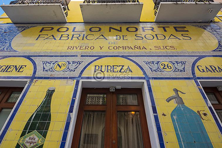 FRONT FACADE POLO NORTE FABRICA DE SODAS SODA FACTORY CALLE TETUAN OLD SAN JUAN PUERTO RICO