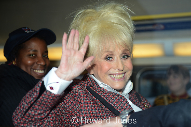 Eastenders actors Barbara Windsor and Lacey Turner were at Covent Garden to help launch a bid by The Royal British Legion to raise over &pound;1million in a one day poppy appeal. <br /> <br /> They then moved on to Downing Street and The Tower of London via a London Poppy Day Routemaster bus.