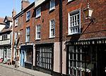 Antique shops, Elm Hill, Norwich, England