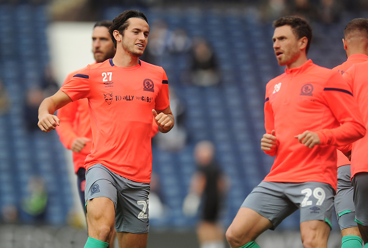 Blackburn Rovers' Lewis Travis during the pre-match warm-up <br /> <br /> Photographer Kevin Barnes/CameraSport<br /> <br /> The EFL Sky Bet Championship - West Bromwich Albion v Blackburn Rovers - Saturday 31st August 2019 - The Hawthorns - West Bromwich<br /> <br /> World Copyright © 2019 CameraSport. All rights reserved. 43 Linden Ave. Countesthorpe. Leicester. England. LE8 5PG - Tel: +44 (0) 116 277 4147 - admin@camerasport.com - www.camerasport.com