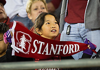 Stanford, CA - October 5, 2019: Fans at Stanford Stadium. The Stanford Cardinal beat the University of Washington Huskies 23-13.