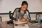 Washington DC, USA. Brazilian Presidential candidate Marina Silva, ex-Environment Minister and senator, keynote speaker at the Chico Vive conference, 4th April 2014.