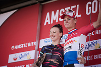 Amstel race winners Mathieu Van Der Poel (NED/Correndon-Circus) &  Katarzyna Niewiadoma (POL/Canyon-SRAM) share the podium<br /> <br /> 6th Amstel Gold Race Ladies Edition (1.WWT)<br /> One day race from Maastricht to Berg en Terblijt (127km)<br /> 54th Amstel Gold Race 2019 (1.UWT)<br /> One day race from Maastricht to Berg en Terblijt (NED/266km)<br /> <br /> ©kramon