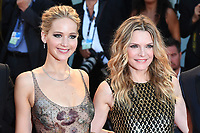 VENICE, ITALY - SEPTEMBER 5: Jennifer Lawrence and Michelle Pfeiffer attend the premiere for Mother during the 74th Venice Film Festival on September 5, 2017 in Venice, Italy.<br /> CAP/BEL<br /> &copy;BEL/Capital Pictures