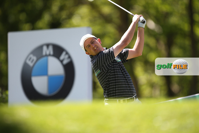 Peter LAWRIE (IRL) during Round One of the 2015 BMW PGA Championship over the West Course at Wentworth, Virginia Water, London. 21/05/2015Picture David Lloyd, www.golffile.ie.