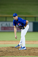 AZL Cubs relief pitcher Sean Barry (56) gets ready to deliver a pitch during a game against the AZL Brewers on August 1, 2017 at Sloan Park in Mesa, Arizona. Brewers defeated the Cubs 5-4. (Zachary Lucy/Four Seam Images)
