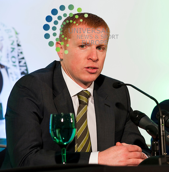 Pictured- Neil Lennon. Former Celtic Captain Neil Lennon was today confirmed as the New Manager of Celtic Football Club.  The decision was made following Tony Mowbray's sacking at the end of last season. The announcement was made at Celtic Park this morning at 11am...Celtic Park, Parkhead, Glasgow, Scotland.  Picture: Euan Anderson/Universal News And Sport (Scotland) 09th June 2010.