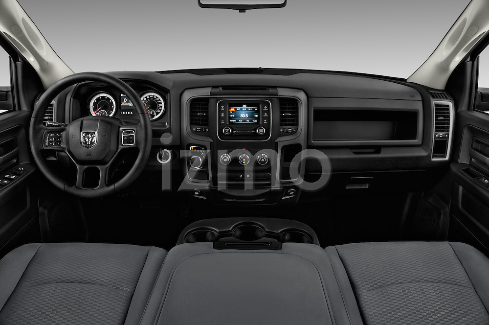 Stock photo of straight dashboard view of 2016 Ram 1500 Express Express 4 Door Pickup Dashboard