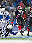 3 January 2010: Buffalo Bills' FB Corey McIntyre in action against the Indianapolis Colts during a cold, snowy, final game of the season at Ralph Wilson Stadium in Orchard Park, New York. The Bills defeated the Colts 30-7. Mandatory Credit: Ed Wolfstein Photo