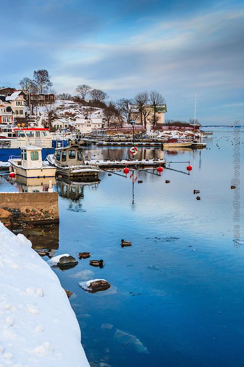 Vinter på Dalarö i Stockholms skärgård