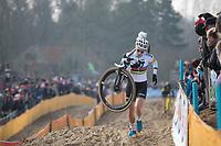 Later winner Sanne Cant (BEL/Iko Beobank)<br /> <br /> Women's Race<br /> Belgian National Cyclocross Championships 2018 / Koksijde