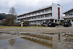 Photo shows Akazawa elementary school which was abandoned until mid-2011 when IT outfit Smart Technology Partners took it over to implement a state-of-the-art  data center in Aizu-misato town, Fukushima Prefecture, Japan on 20 April 2013.  Photographer: Rob Gilhooly