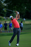 Jon Rahm (ESP) in action during the final round of the Northern Trust played at Liberty National Golf Club, Jersey City, USA. 11/08/2019<br /> Picture: Golffile | Michael Cohen<br /> <br /> All photo usage must carry mandatory copyright credit (© Golffile | Michael Cohen)