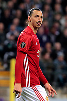 BRUSSELS , BELGIUM - APRIL 13 : Zlatan Ibrahimovic of Manchester United pictured during  UEFA Europa League quarter final first leg match between Rsc Anderlecht and Manchester United in Brussels, Belgium 13/04/2017. <br /> Bruxelles 13-04-2016 <br /> Anderlecht - Manchester United Europa League <br /> Foto Panoramic / Insidefoto <br /> ITALY ONLY