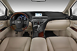 Straight dashboard view of a 2010 Lexus RX 350.