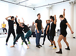"""Matt Doyle and cast during a press Sneak-Peek for The Joyce Theater's presentation of """"Freddie Falls in Love"""" at Gibney Dance on July 15, 2019 in New York City."""