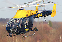 STOCK - SOUTH YORKSHIRE POLICE HELICOPTER<br />