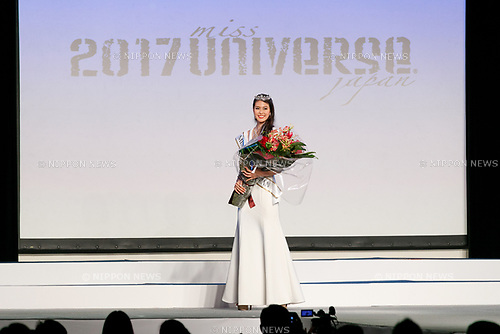 Miss Universe Japan 2017 winner Momoko Abe poses during the Miss Universe Japan competition at Hotel Chinzanso Tokyo on July 4, 2017, Tokyo, Japan. Momoko Abe from Chiba who won the title will represent Japan in the next Miss Universe competition. (Photo by Rodrigo Reyes Marin/AFLO)